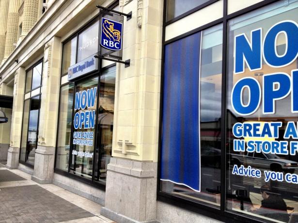 RBC Royal Bank Hudson Bay Building Victoria BC Canada